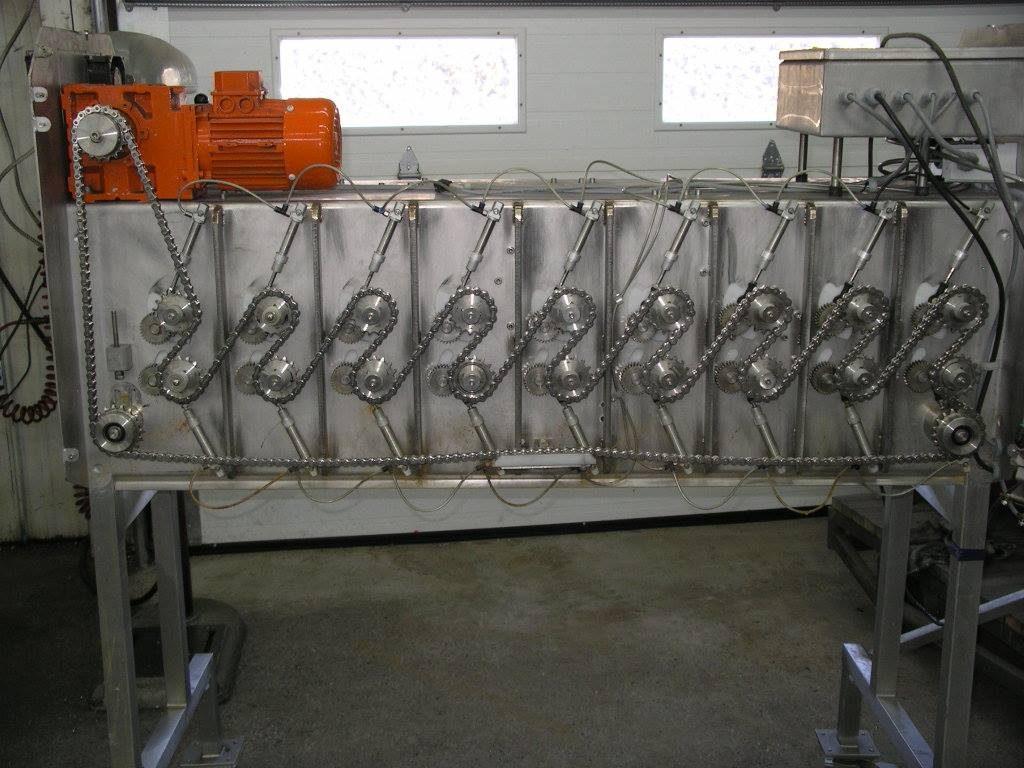 Modification de machine de tranformation de légumes